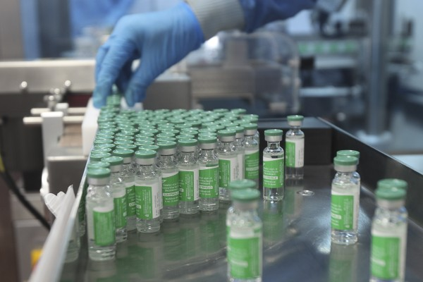 The world's largest vaccine maker will be able to restart exports of AstraZeneca doses by June if new coronavirus infections subside in the country, its chief executive said. Photo: AP