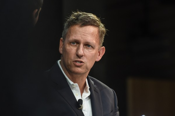 Peter Thiel, speaks at the New York Times DealBook conference on November 1, 2018 in New York City, US. Photo: AFP