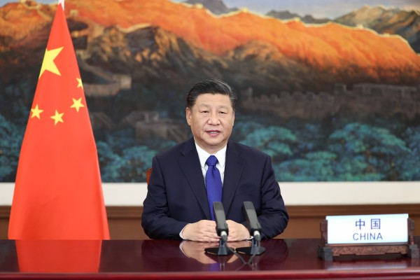 President Xi Jinping addresses a virtual climate summit of more than 70 world leaders in December. He is expected to attend the Earth Day talks on April 22 and 23. Photo: Xinhua
