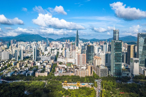 Shenzhen, China's tech hub, is one of the main cities that make up the Greater Bay Area. Photo: Xinhua