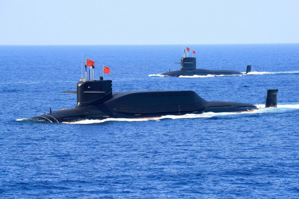 Chinese nuclear-powered are seen during a military display in the South China Sea in 2018. Photo: Reuters