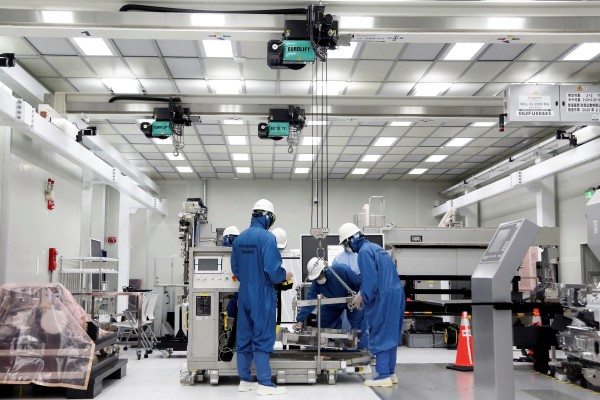 Trainees learn how to build and operate an EUV machine at the training centre at ASML Holding in Tainan, Taiwan, on August 20, 2020. Photo: Reuters