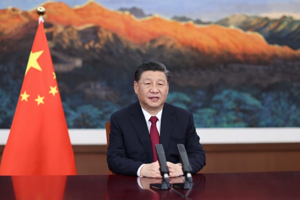 Chinese President Xi Jinping speaks via video at the opening ceremony of the Boao Forum for Asia on Tuesday. Photo: Xinhua