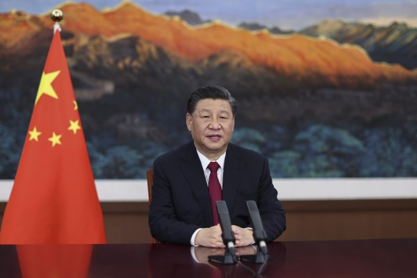 President Xi Jinping will deliver a speech at a virtual climate change summit of world leaders on Thursday. Photo: AP