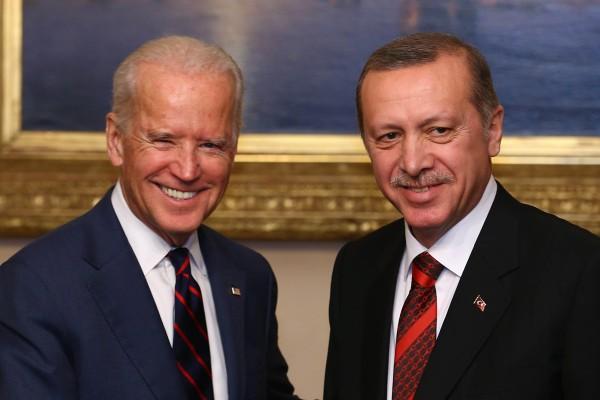 Joe Biden with Turkish President Recep Tayyip Erdogan in Istanbul in 2014, during Biden's spell as US vice-president. Photo: EPA