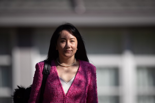 Meng Wanzhou, chief financial officer of Huawei, leaves her home to attend a court hearing in Vancouver on April 19. Photo: Bloomberg