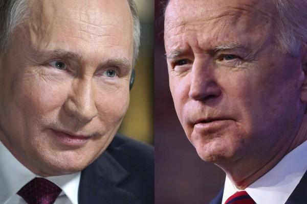 Russia's President Vladimir Putin and US President Joe Biden. File photo: AFP