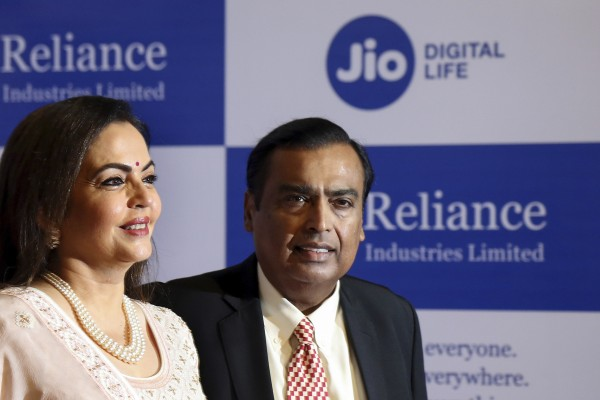 Mukesh Ambani's Reliance Industries plans to conquer the Indian smartphone market with an affordable Google-powered device. Photo: AP