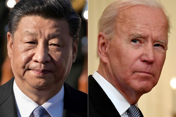 Chinese President Xi Jinping and US President Joe Biden. Photos: AFP