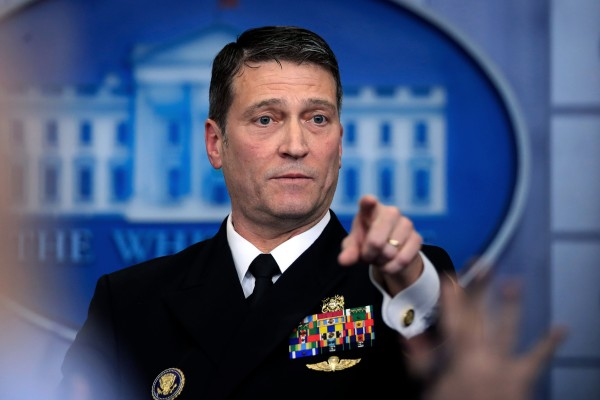 Former White House doctor Dr Ronny Jackson at the White House in Washington, DC in 2018. Photo: AP