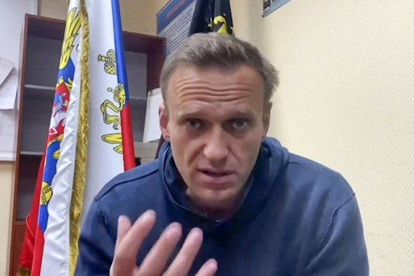 Russian opposition leader Alexei Navalny in January. Photo: Navalny team Youtube page / AFP