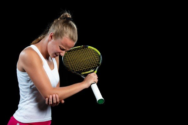 Tennis elbow is a common injury, and not just from playing tennis. Photo: Getty Images