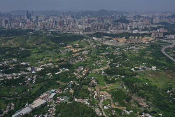 The northern New Territories, with Shenzhen in the background. The Northern Metropolis plan has sparked renewed interest in the area. Photo: Winson Wong