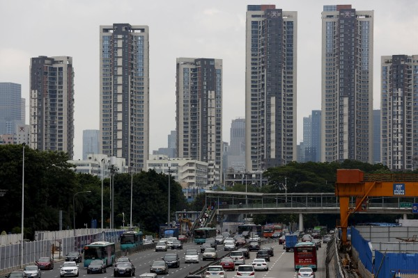 Residential towers are seen in Shenzhen, the wealthiest city in southern Guangdong province. Photo: Reuters