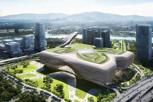 The Huanggang port building in Shenzhen is due to open in late 2023. Photo: Handout