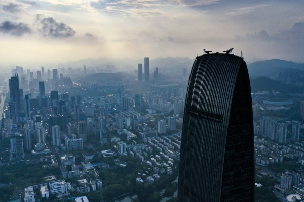 Shenzhen's skyline in the Greater Bay Area. The Silicon Valley of China has taken measures to cool home prices over the past few months. Photo: Martin Chan