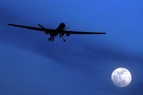 A US Predator drone flies over Kandahar Air Field, southern Afghanistan, in January 2010. Photo: AP