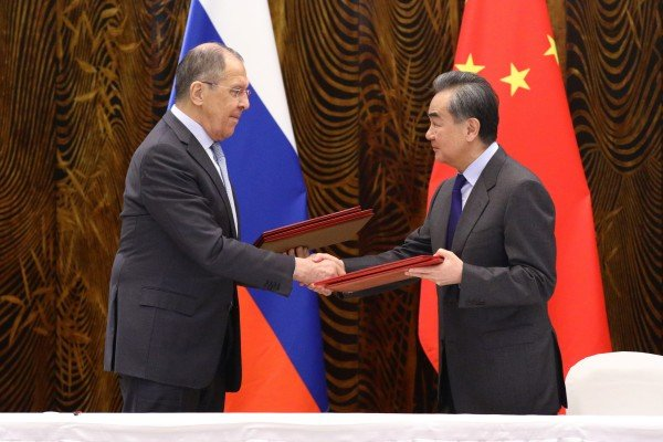 China's Foreign Minister Wang Yi and his Russian counterpart Sergei Lavrov meet in Guilin on Tuesday. Photo: Reuters