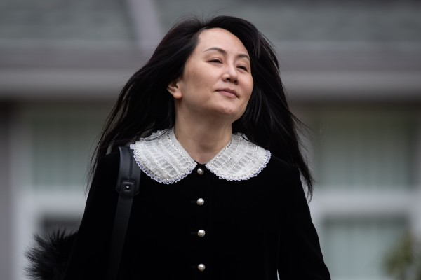 Meng Wanzhou, chief financial officer of Huawei Technologies, leaves her home to attend her extradition hearing in Vancouver on Thursday. Photo: Bloomberg