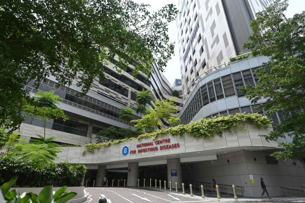 The exterior of Singapore's National Centre for Infectious Diseases. Photo: AFP
