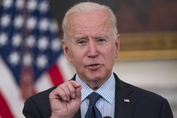US President Joe Biden speaks at the White House on Tuesday. Photo: Bloomberg