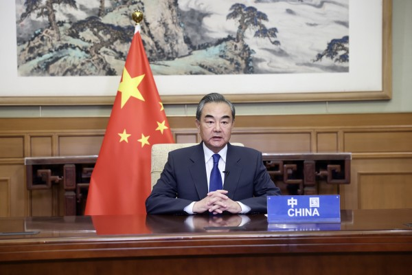 Chinese State Councilor and Foreign Minister Wang Yi took a more measured tone than previously in UN Security Council talks, but implied the US was opposing multilateralism. File photo: Xinhua
