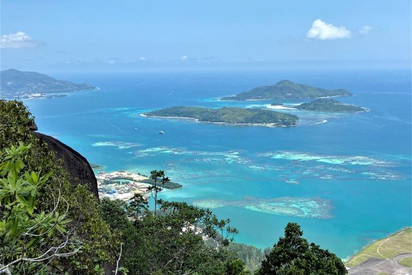 Coral reefs seen from Seychelles' largest island, Mahe. Photo: DPA