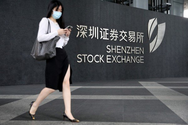 Shenzhen Stock Exchange was Asia's busiest bourse with an overall trading volume of US$4.39 trillion in the first quarter. Photo: Getty Images