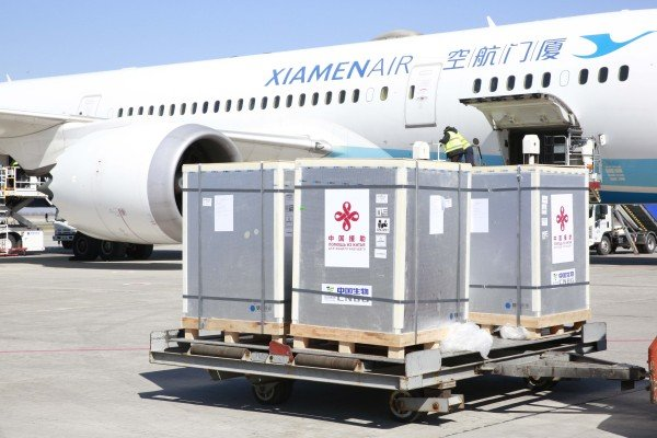 Covid-19 vaccines made by China's Sinopharm arrive in Bishkek, Kyrgyzstan in March. China offered to boost regional cooperation on vaccines during multilateral talks on Wednesday. Photo: Xinhua