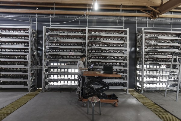 Inner Mongolia is cracking down on cryptocurrency mining facilities, which consume massive amounts of energy. Photo: Bloomberg