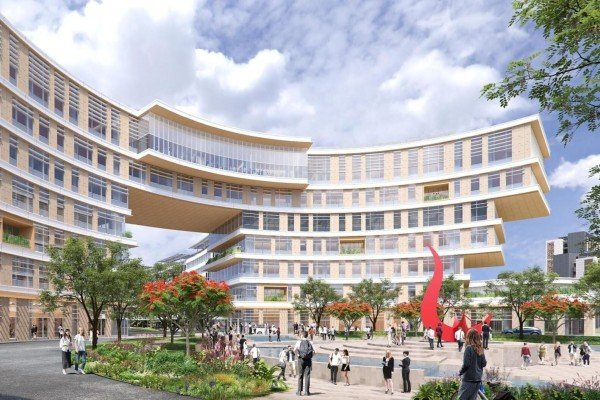 An artist's depiction of the entry gateway for the Guangzhou campus of Hong Kong University of Science and Technology. Photo: Handout