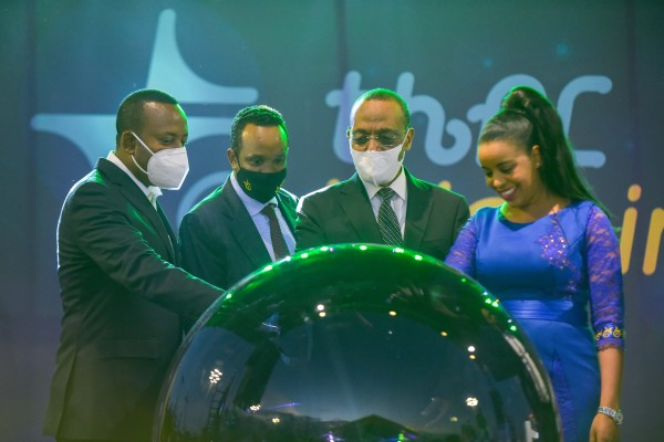 The launch of Ethio-Telecom's mobile money service Tele-Birr, which was developed by Huawei. Photo: Xinhua