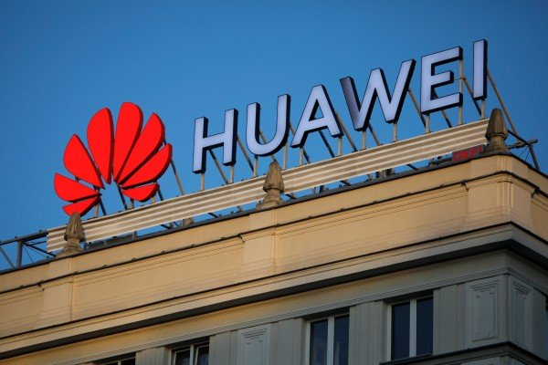 The Huawei logo pictured in central Warsaw, Poland, on June 17, 2019. Photo: Reuters