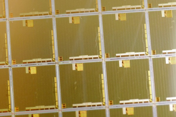 Wafer microchips producted by Japanese electronics giant Matsushita Electric Industrial. Photo: AFP