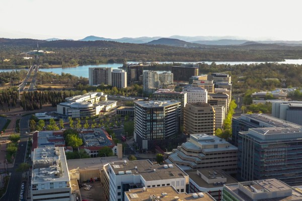 Aerial view of Canberra, the capital of Australia, whose government has been at loggerheads with Beijing for the last couple of years. Photo: Shutterstock