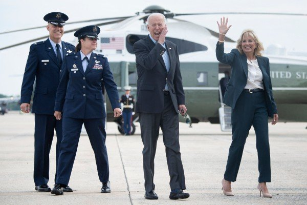 US President Joe Biden and first lady Jill Biden depart for Europe to attend a series of summits. Photo: AFP