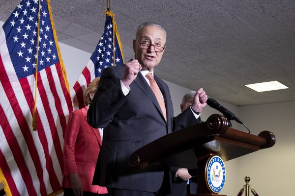Senate Majority Leader Chuck Schumer is one of the sponsors of the US Innovation and Competition Act, which passed in the Senate on Tuesday. Photo: EPA-EFE
