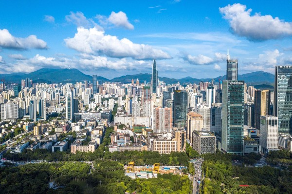 Shenzhen, in China's southern Guangdong province, is covered by the Greater Bay Area. About 66 per cent of companies surveyed said they saw the region presenting new business opportunities a few years down the road, compared to 58 per cent a year ago. Photo: Xinhua