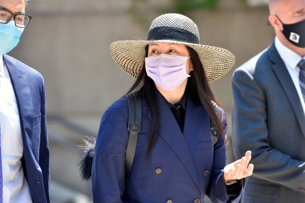 Huawei Technologies chief financial officer Meng Wanzhou leaves a court hearing during a lunch break in Vancouver, British Columbia on June 29. Photo: Reuters