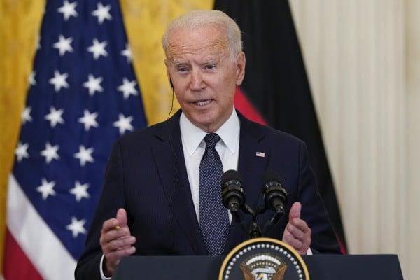 US President Joe Biden during a news conference. Photo: AP