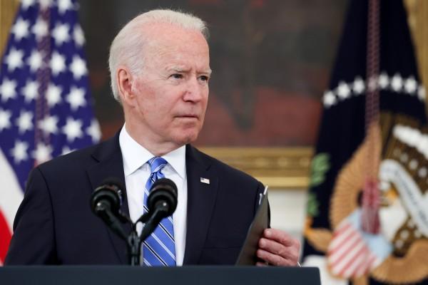 US President Joe Biden at the White House in Washington on Monday. Photo: Reuters