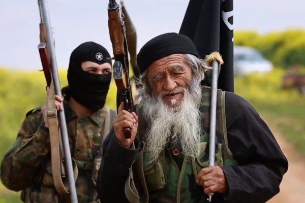 Muhammed Amin (right), an Islamic State fighter in Syria and reportedly a member of the Muslim Uygur minority. Photo: SCMP Pictures