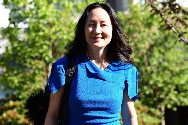 Huawei Technologies executive Meng Wanzhou leaves her Vancouver home to attend her extradition hearing in the Supreme Court of British Columbia on Wednesday. Photo: AFP