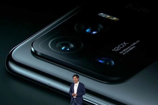 Xiaomi founder and CEO Lei Jun attends a launch ceremony of the flagship Mi 11 Ultra in Beijing on March 29 March. The company has been pushing into high-end devices in recent years and aims to become the top smartphone brand in the world within three years. Photo: Xiaomi