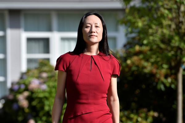 Huawei Technologies chief financial officer Meng Wanzhou leaving her home to attend a court hearing in Vancouver, British Columbia, on Tuesday. Photo: Reuters