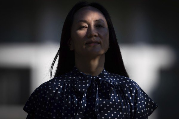 Meng Wanzhou, chief financial officer of Huawei Technologies, leaves her home in Vancouver to attend her extradition hearing at the Supreme Court of British Columbia on Wednesday. Photo: The Canadian Press via AP