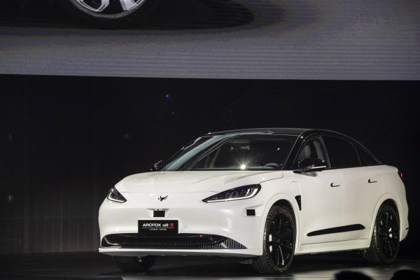 The Arcfox Alpha-S electric sedan, manufactured by BAIC Group's BAIC Motor Electric Vehicle Co and equipped with Huawei's HI smart car platform, during an unveiling event in Shanghai on April 17, 2021. Photo: Bloomberg