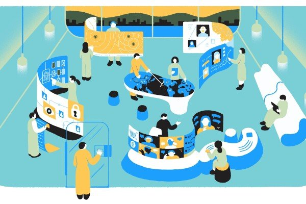 The 2021 edition of the China Internet Report looks at how the country's tech industry is changing as it copes with new pressures. Illustration: SCMP