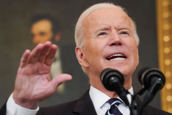 US President Joe Biden delivers remarks on the Delta variant and his administration's efforts to increase vaccinations at the White House on Thursday. Photo: Reuters