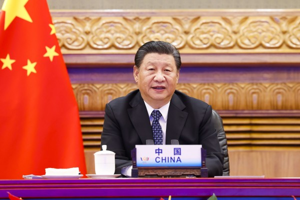 Chinese President Xi Jinping attends the a BRICS summit via video link in Beijing, China on Thursday. Photo: Xinhua